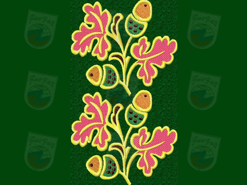Картинка дуба на ткани