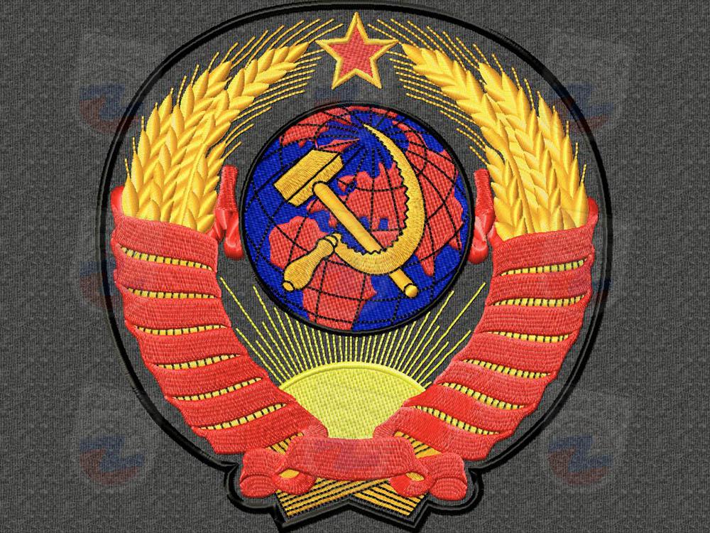 Герб СССР (ткань)