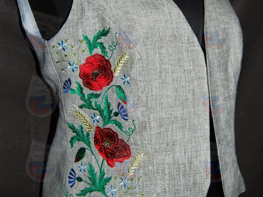 вышивка на жилетках