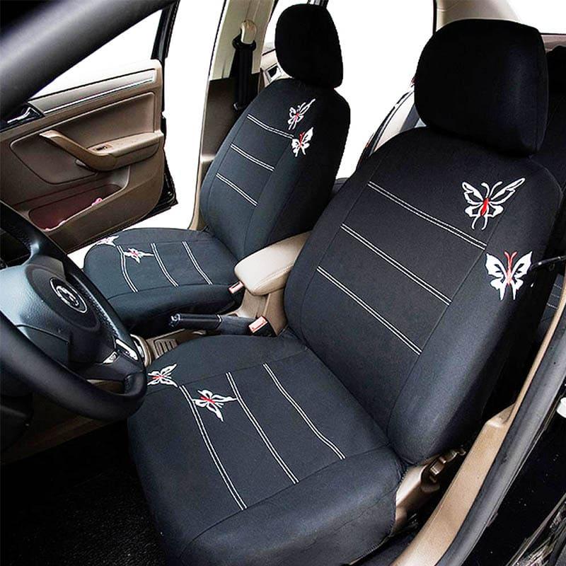 Вышивка на автомобильном чехле